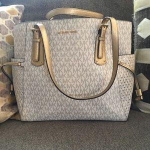Michael Kors Monogram Handbag Tote vanilla